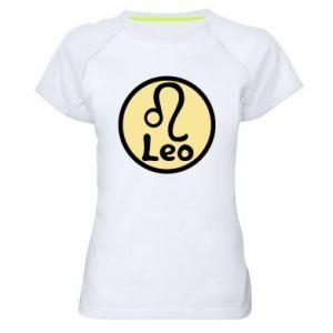 Damska koszulka sportowa Leo - PrintSalon