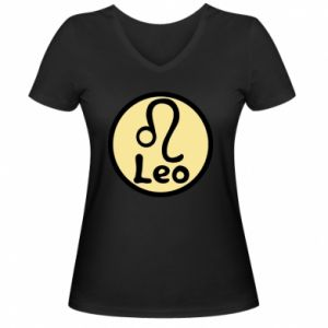 Damska koszulka V-neck Leo - PrintSalon