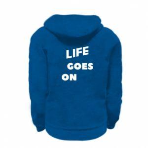Bluza na zamek dziecięca Life goes on