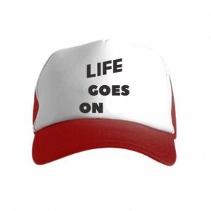 Czapka trucker dziecięca Life goes on