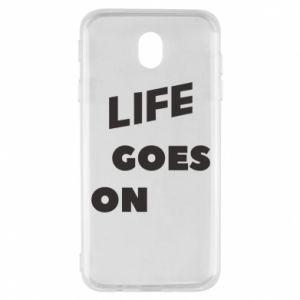 Etui na Samsung J7 2017 Life goes on