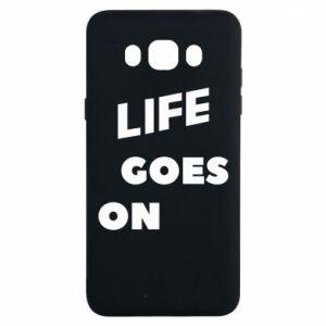 Etui na Samsung J7 2016 Life goes on