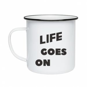 Kubek emaliowane Life goes on