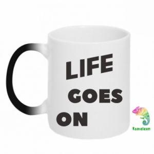 Kubek-kameleon Life goes on
