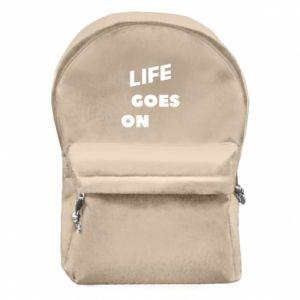Plecak z przednią kieszenią Life goes on
