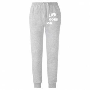 Męskie spodnie lekkie Life goes on
