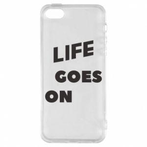 Etui na iPhone 5/5S/SE Life goes on