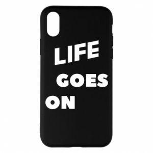 Etui na iPhone X/Xs Life goes on