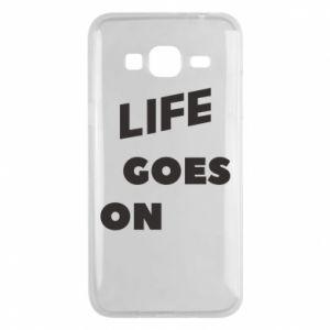 Etui na Samsung J3 2016 Life goes on