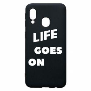 Etui na Samsung A40 Life goes on