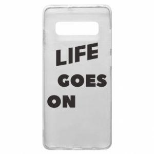 Etui na Samsung S10+ Life goes on
