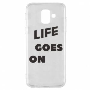 Etui na Samsung A6 2018 Life goes on