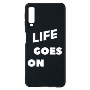 Etui na Samsung A7 2018 Life goes on