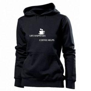 Damska bluza Life happenes, coffee helps