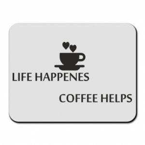 Podkładka pod mysz Life happenes, coffee helps