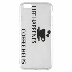 Etui na iPhone 6 Plus/6S Plus Life happenes, coffee helps