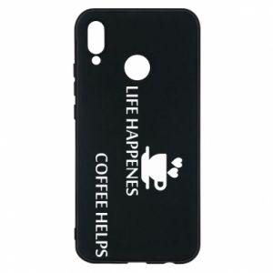 Etui na Huawei P20 Lite Life happenes, coffee helps