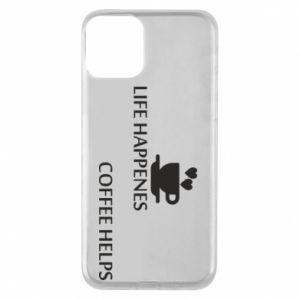 Etui na iPhone 11 Life happenes, coffee helps