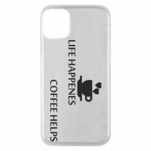 Etui na iPhone 11 Pro Life happenes, coffee helps