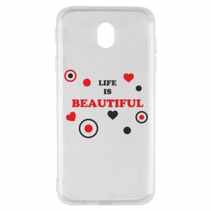 Etui na Samsung J7 2017 Life is beatiful, color