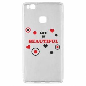 Etui na Huawei P9 Lite Life is beatiful, color