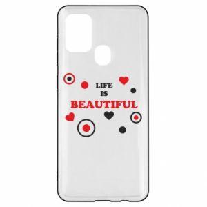 Etui na Samsung A21s Life is beatiful, color