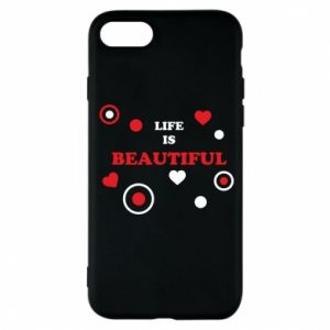 Phone case for iPhone 8 Life is beatiful,  color