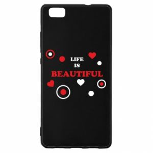 Etui na Huawei P 8 Lite Life is beatiful, color