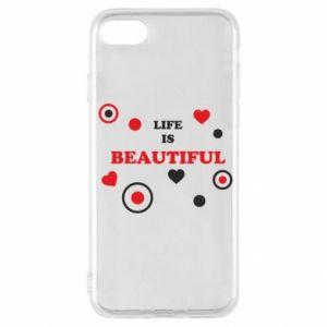 Etui na iPhone SE 2020 Life is beatiful, color