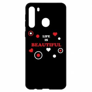 Etui na Samsung A21 Life is beatiful, color