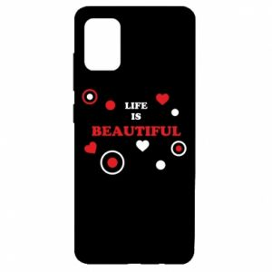 Etui na Samsung A51 Life is beatiful, color