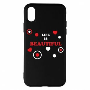 Phone case for iPhone X/Xs Life is beatiful,  color