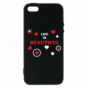 Phone case for iPhone 5/5S/SE Life is beatiful,  color