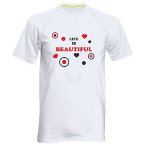 Men's sports t-shirt Life is beatiful,  color