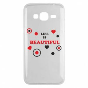 Phone case for Samsung J3 2016 Life is beatiful,  color
