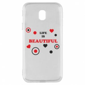 Phone case for Samsung J3 2017 Life is beatiful,  color
