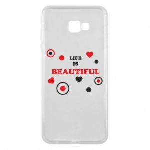 Phone case for Samsung J4 Plus 2018 Life is beatiful,  color