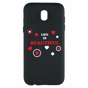Phone case for Samsung J5 2017 Life is beatiful,  color