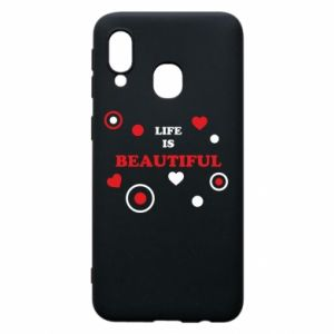Phone case for Samsung A40 Life is beatiful,  color