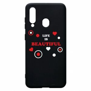 Phone case for Samsung A60 Life is beatiful,  color