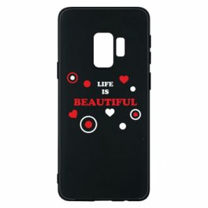 Phone case for Samsung S9 Life is beatiful,  color