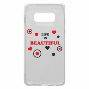 Phone case for Samsung S10e Life is beatiful,  color