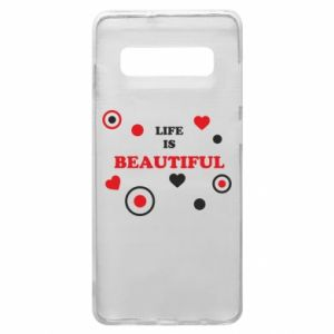 Phone case for Samsung S10+ Life is beatiful,  color