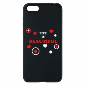 Phone case for Huawei Y5 2018 Life is beatiful,  color