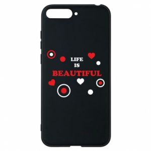 Phone case for Huawei Y6 2018 Life is beatiful,  color