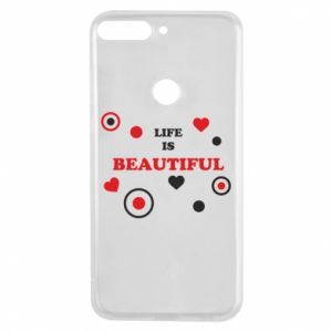 Phone case for Huawei Y7 Prime 2018 Life is beatiful,  color