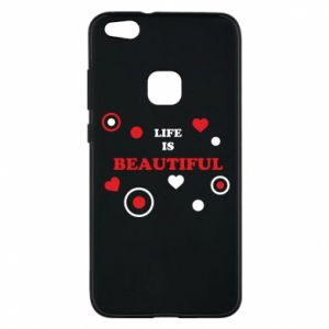 Phone case for Huawei P10 Lite Life is beatiful,  color