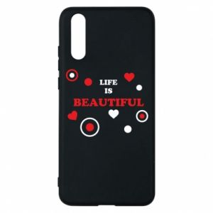 Phone case for Huawei P20 Life is beatiful,  color