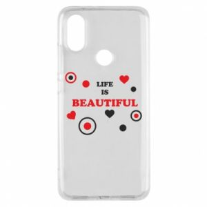 Phone case for Xiaomi Mi A2 Life is beatiful,  color