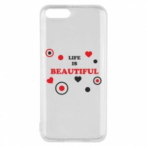 Phone case for Xiaomi Mi6 Life is beatiful,  color